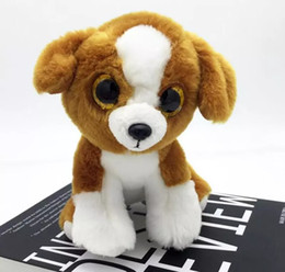ty plush toys wholesale UK - 25 Design Ty Beanie Boos Plush Stuffed Toys 15cm Wholesale Big Eyes Animals Soft Dolls for Kids Birthday Gifts ty toys