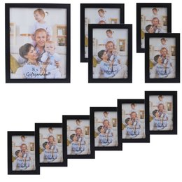 $enCountryForm.capitalKeyWord NZ - Giftgarden Wood Photo Frame Black Picture Frames For Living Room Frames For Picture and Posters, Set of 11 PVC Covering Front