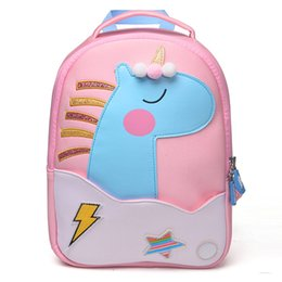 kid student backpack UK - 2018 New Fashion Unicorn School Bags for Girls Boy Cute Animals Design Children's backpack Student Kids Bag Gift Mochila Escolar
