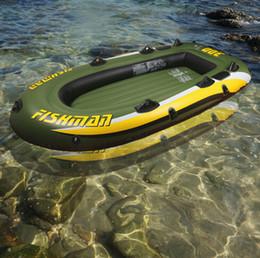 252*125 * 40 см рыбак 3 человек ПВХ толстые надувные лодки Рыбалка надувные каяк алюминиевый весло насос шлюпки воздуха плот