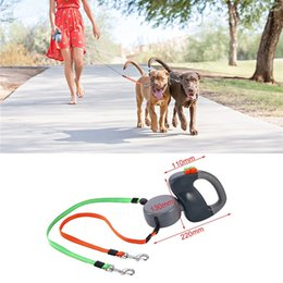 Wholesale Dual Doggie Pet Leash Double Retractable Dog Leash For Walking Dogs At A Time pet supplies MMA972