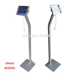 Wholesale for mini iPad floor stand with charging cable display on shop hotel trade fair exhibition standing kiosk support advertising