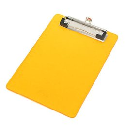 paper file clips UK - Office File Holding Orange Plastic Clip Board for A6 Paper
