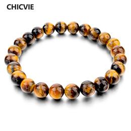 Discount famous brand men bracelets - CHICVIE Tiger Eye Love Buddha Bracelets & Bangles Trendy Natural Stone Bracelet For Women Famous Brand Men Jewelry SBR14