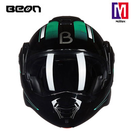 open full helmet NZ - 2018 BEON B-702 Full Face Helmet super cool flip up motocycle helmet with Dual Sield System and ECE certification low minumun