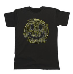 Discount electric beige - Details zu Electric Smile Mens T-Shirt Hipster Technology For Music Festivals Dance Rave