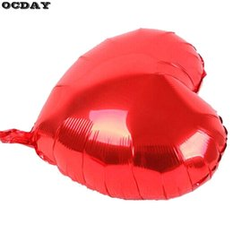 $enCountryForm.capitalKeyWord NZ - 1pc 10 inch Heart Shape Inflatable Aluminum Foil Balloons Toys Birthday Wedding Party Deco Aluminum Film Kids Floating Toys Hot