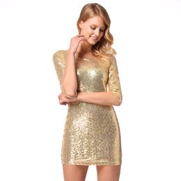 2018 новых женщин сексуальный тонкий пакет хип юбка рукав блесток платье платья юбки