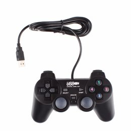 usb game controller for pc gamepad 2018 - USB 2.0 Black Wired PC Gamepad Game Controller Ergonomic Vibration Joystick For PC Computer Laptop #250189 discount usb