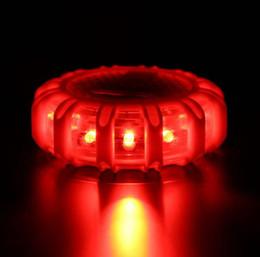 $enCountryForm.capitalKeyWord NZ - 1pcs 12* LED Emergency Safety Flare Red Road Flare Magnet Flashing Warning Night Lights Roadside Disc Beacon For Car Truck Boat