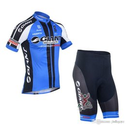 lycra cycling jersey sets NZ - GIANT team Cycling Short Sleeves jersey (bib) shorts sets newst Quick dry Lycra Mens Summer mtb bicycle Clothes ropa ciclismo C1516