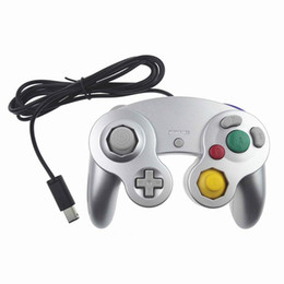 China NGC Wired Gaming Game Controller Gamepad Joystick Turbo DualShock for NGC Nintendo Console Gamecube Wii U Extension Cable Cord Q2 9color DHL suppliers