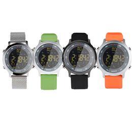 Round alaRm clocks online shopping - Waterproof EX18 Smartwatch Bluetooth Call Alarm Clock Pedometer Remote Camera Round Screen Luxury Watch For Andorid Apple Wristband Watches