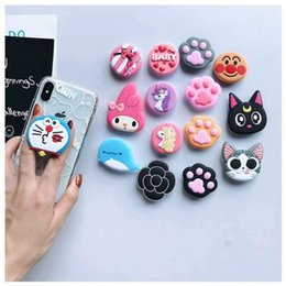 Cute Cat iphone online shopping - New mobile phone bracket Cute hello kitty air bag Phone Expanding Stand Finger Holder For iPhone Sakura luna cat phone ring