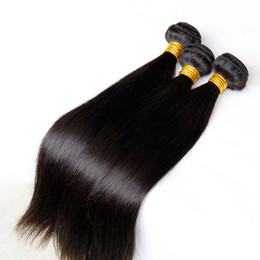Hair Pcs Canada - Brazilian Peruvian Malaysian Indian Cambodian Straight Virgin Hair Weaves Bundles 3 4 Pcs Unprocessed Remy Human Hair Extensions Double Weft