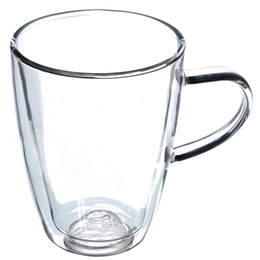 Craft mugs online shopping - Eco Friendly Big Promotion Durable ml Clear Handmade Heat Resistant Double Wall Glass Tea Coffee Drink Mug Perfect Craft Gift