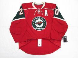 Hockey jersey suter For Sale - Cheap custom RYAN SUTER MINNESOTA WILD HOME EDGE HOCKEY JERSEY stitch add any number any name Mens Hockey Jersey XS XL