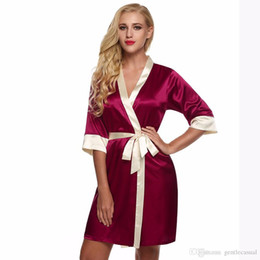 7cf985a3d0 Womens Sexy Silk Rayon Kimono Pajamas Soft Dress Sleepwear Sexy Bathrobe 8  Photos Find Similar Lingeries Woman Above Knee Mini Sleepwear