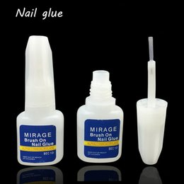 $enCountryForm.capitalKeyWord NZ - Nail Glue 10g False Glue Nail Art Decoration with Brush False Gel 10g Glitter Aluminum Mirror Effect