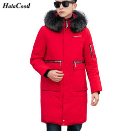 Wholesale Quality New Long Winter White Duck Down Jacket With Fur Hood Men s Clothing Casual Jackets Thickening Parkas Male Big Coat