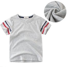 $enCountryForm.capitalKeyWord Australia - Kids Boys Solid T-shirt Pure Cotton Boys Short Sleeve T-shirt Tank Tops Breathable Childrens Round Neck Casual Summer Tee Shirts