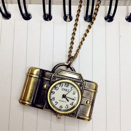 Jade Dresses Australia - Montre Femme Top Brand Unisex Vintage Bronze Camera Design Pendant Pocket Watch Necklace Relogio Masculino Dress Clock Gift M