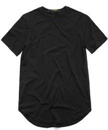$enCountryForm.capitalKeyWord NZ - 201men's T Shirt Kanye West Extended T-Shirt Men's clothing Curved Hem Long line Tops Tees Hip Hop Urban Blank Justin Bieber Shirts TX135-R3