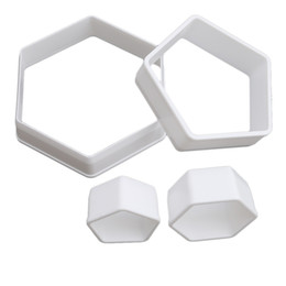 Kitchen Decorators Australia - Wholesale-4PCs  Set Football Soccer DIY Fondant Cutters Soccer Form Sugar Craft Molds Plastic Stencil Kitchen Cake Decorating Tools