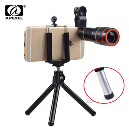 Iphone Tripod Zoom Camera Australia - wholesale hd lens 12X Zoom Telephoto Lens kit 4 in 1 SmartPhone Telescope Camera lens For iPhone 6 7 Sumgung xiaomi HTC with tripod