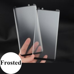 Wholesale 3D Tempered Glass Matte Screen Protector For Samsung Galaxy Note S9 Plus S8 Case Friendly Frosted Glass Protective Film
