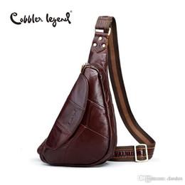 e4dc5d0411 Wholesale- Cobbler Legend 2016 Genuine Leather Casual Cowhide Chest Pack  Large England Style Men Mobile Bag Men s Messenger Bags  12050
