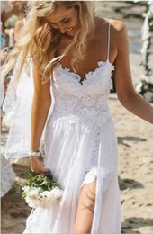 Vintage 2017 Julie Vino Summer A-line Кружевные свадебные платья New Halter Backless Lace High Slit Chiffon A-line Beach PromEvening Gowns BO5557