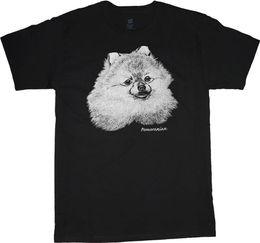 Pomeranian shirt dog breed t-shirt men s t-shirt black tee white design  2018 Short Sleeve 3661a000f9f8