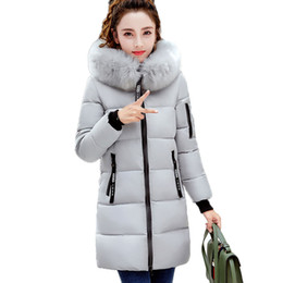 $enCountryForm.capitalKeyWord UK - Fur collar warm Cotton Jacket New 2017 Winter Women Coats Long section Thicker Hooded parkas Female Feather Padded OuterwearXC64