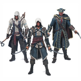 China Free Shipping Assassins Creed 4 Black Flag Connor Haytham Kenway Edward Kenway Pvc Action Figure Toys Hidden Blade cheap hide toys suppliers