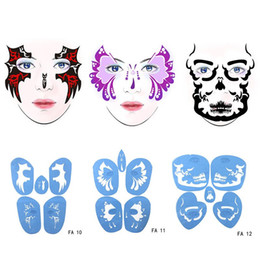 $enCountryForm.capitalKeyWord Australia - Soft Face Body Airbrush Paint Stencil Reusable Template Temporary Tattoo Painting Makeup Design For Halloween Christmas Party