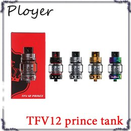 Cloud Atomizers Wholesale Australia - TFV12 Prince Cloud Beast Tank Big 8ml Capacity Sub Ohm Atomizer Wide Bore Drip Tip Fit V12 Q4 X6 M2 T10 Coil 0266171-2