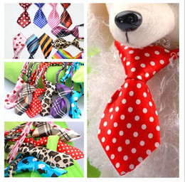 Wholesale 2019 Hot Sale Adjustable Pet Dog Cat Handmade Bow Tie Necktie Neck Collar Cute gift patterns for choose