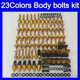China Fairing bolts full screw kit For KAWASAKI NINJA ZXR400 91 92 93 94 95 96 ZXR-400 ZXR 400 1991 95 1996 Body Nuts screws nut bolt kit 25Colors cheap plastics for 94 kawasaki ninja suppliers