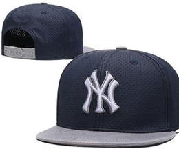 ac19c3e8838 Top Quality Cheap Snapback Caps classic bone Baseball Cap Embroidered Team  Size Fans NY Logo Flat Curved Brim for Adult New York hat cap