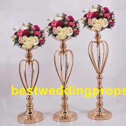$enCountryForm.capitalKeyWord Australia - elegant Tall sliver New Arrival ! Gold Metal Vase, Gold Flower Vase, Royal Gold Trumpet Vase For Decoration best0153