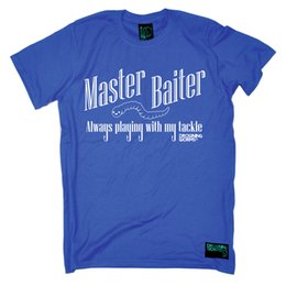 Wholesale Fishing Master Baiter angling fish rod reel funny Birthday tee T SHIRT