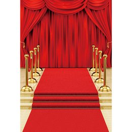 paintings celebrities Canada - Digital Printed Red Carpet Curtain Wedding Photography Backdrop Celebrity Party Themed Stage Photo Booth Background Fond Photographie