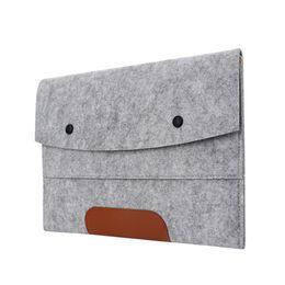 "$enCountryForm.capitalKeyWord Australia - 11 13 14 15 17 inch Laptop Sleeve Ultra Slim Wool Felt Laptop Sleeve Bag for Macbook Air Pro Retina Notebook Case Pouch 15.6"""