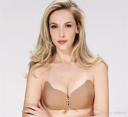 87560f2f39 2018 New Self Adhesive Strapless Bra Butterfly Shaped Bras e Push Up Nubra  Strapless Self Adhesive Stick on Invisible Bra DHL From Detector