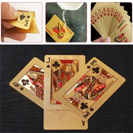 Wholesale 24K Gold Foil Plated Poker Card Playing Card Game High grade Sports Leisure Game Poker Card Gift