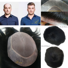 human hair men 2019 - Indian human hair Mono based Toupee for men withTansparent PU Around 6x8 Men Quality HairPiece Replacement System Natura