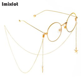 $enCountryForm.capitalKeyWord NZ - New Fashion Starfish Pendant Reading Glasses Chain Metal Sunglasses Cords Eyeglass Lanyard Hold Straps Gold Eyewear Retainer