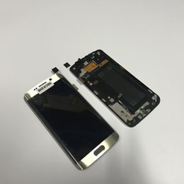 Discount lcd samsung edge - For Samsung Galaxy S6 Edge G925 New LCD Touch Screen Digitizer With Frame Replacement Parts White Blue Gold