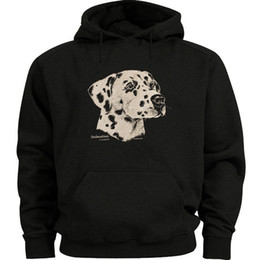 c2085727a0a8 Dog Sweat Hoodies NZ - Dalmatian dog breed sweatshirt Men s size sweat shirt  black dalmation hoodie